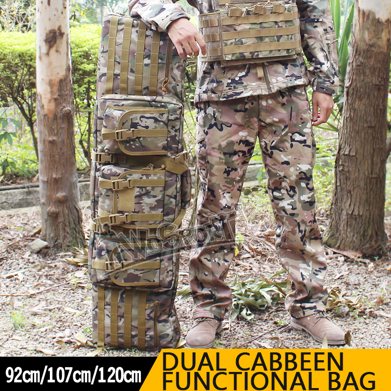 120cm Super Large Capability Hunting Bags Double Carbine Case Dual Two Rifles CS Gun Shooting Paintball Sports Hunting Bags цена
