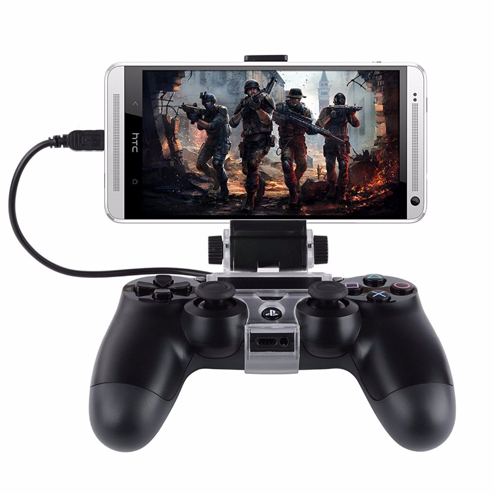 LNOP Android Phone Holder Clip Clamp Stand Bracket For PS4 Controller Sony PlayStation 4/Por/Slim DualShock 4 Play Station 4 PS