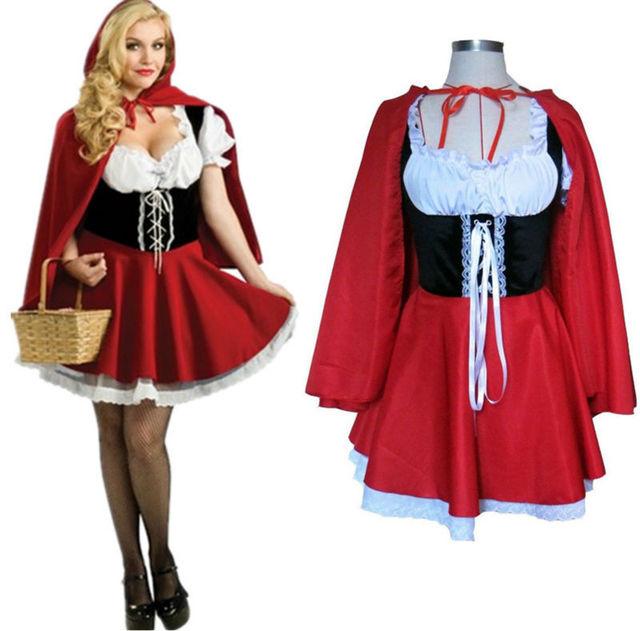 2017 New Fashion Halloween Costume Adult Women Fantasy Costume Ladies Little Red Riding Hood Costumes  sc 1 st  AliExpress.com & 2017 New Fashion Halloween Costume Adult Women Fantasy Costume ...
