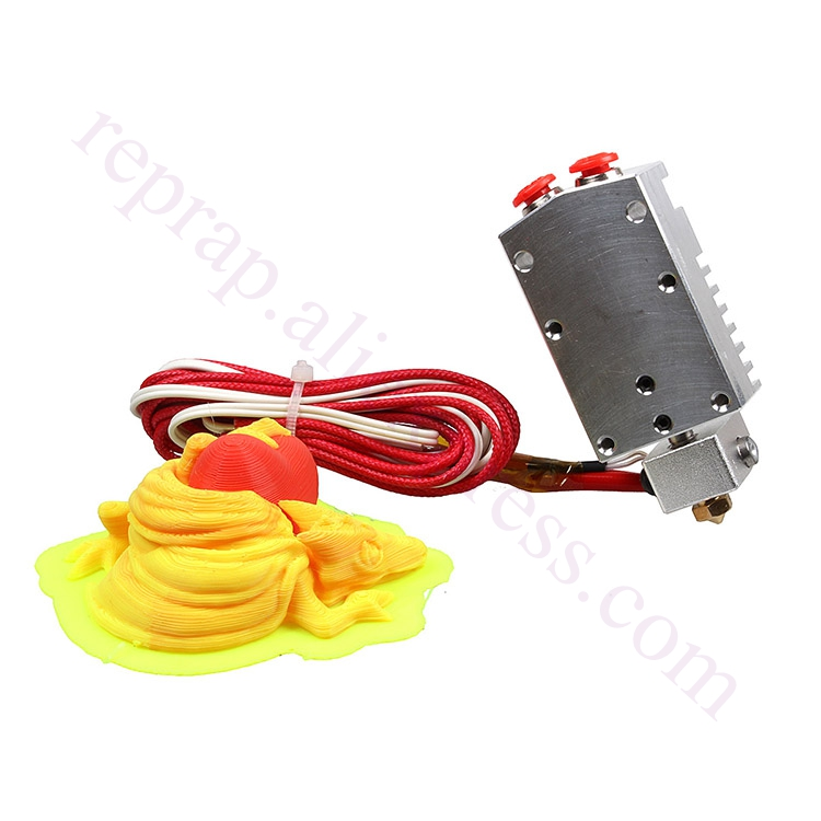 2017 Newest Design Cyclops Extruder 2 In 1 Out 2 colors Hotend Bowden  Extruder Compatible with Titan Extruder, Bulldog extruder