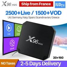 X96 mini IPTV Spain Box Android 7.1 S905W 2GB 16GB Quad Core WIFI 4K*2K Smart Set Top Box 1 Year IUDTV Swedish Arabic IPTV Box 500pcs 1210 1 2k 1k2 1 2k ohm 5