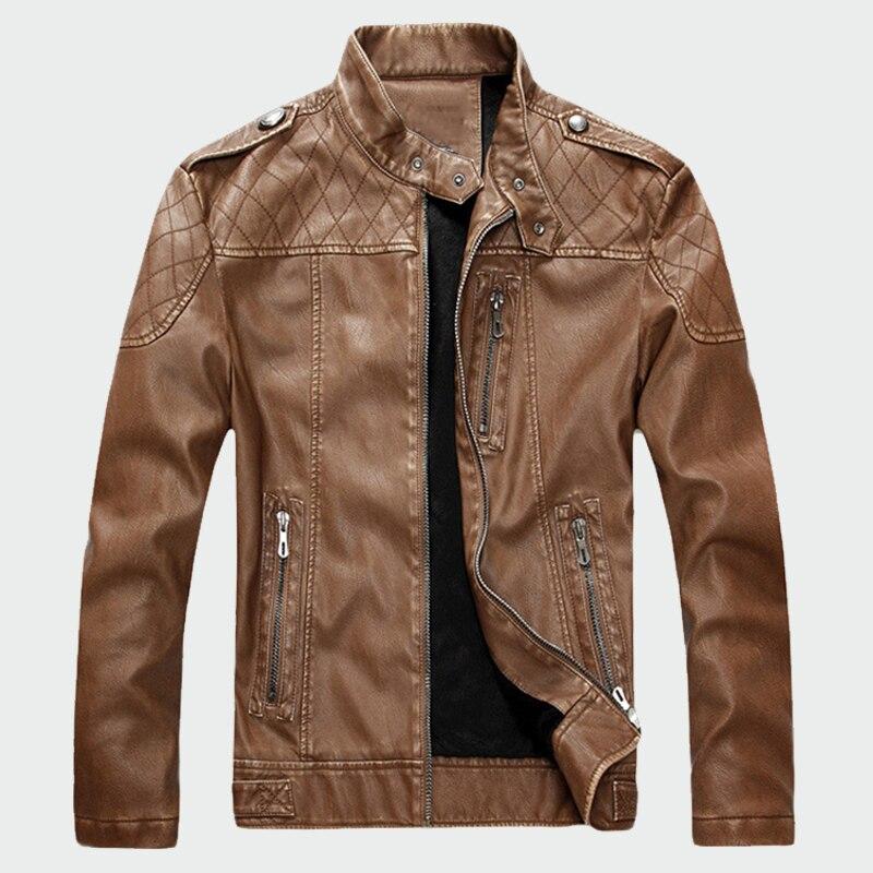 Hommes vestes en cuir décontracté moto PU Plus velours cuir manteaux hommes Faux veste Plus velours marque vêtements 2XL ML013-in Manteaux en cuir simili from Vêtements homme on AliExpress - 11.11_Double 11_Singles' Day 1
