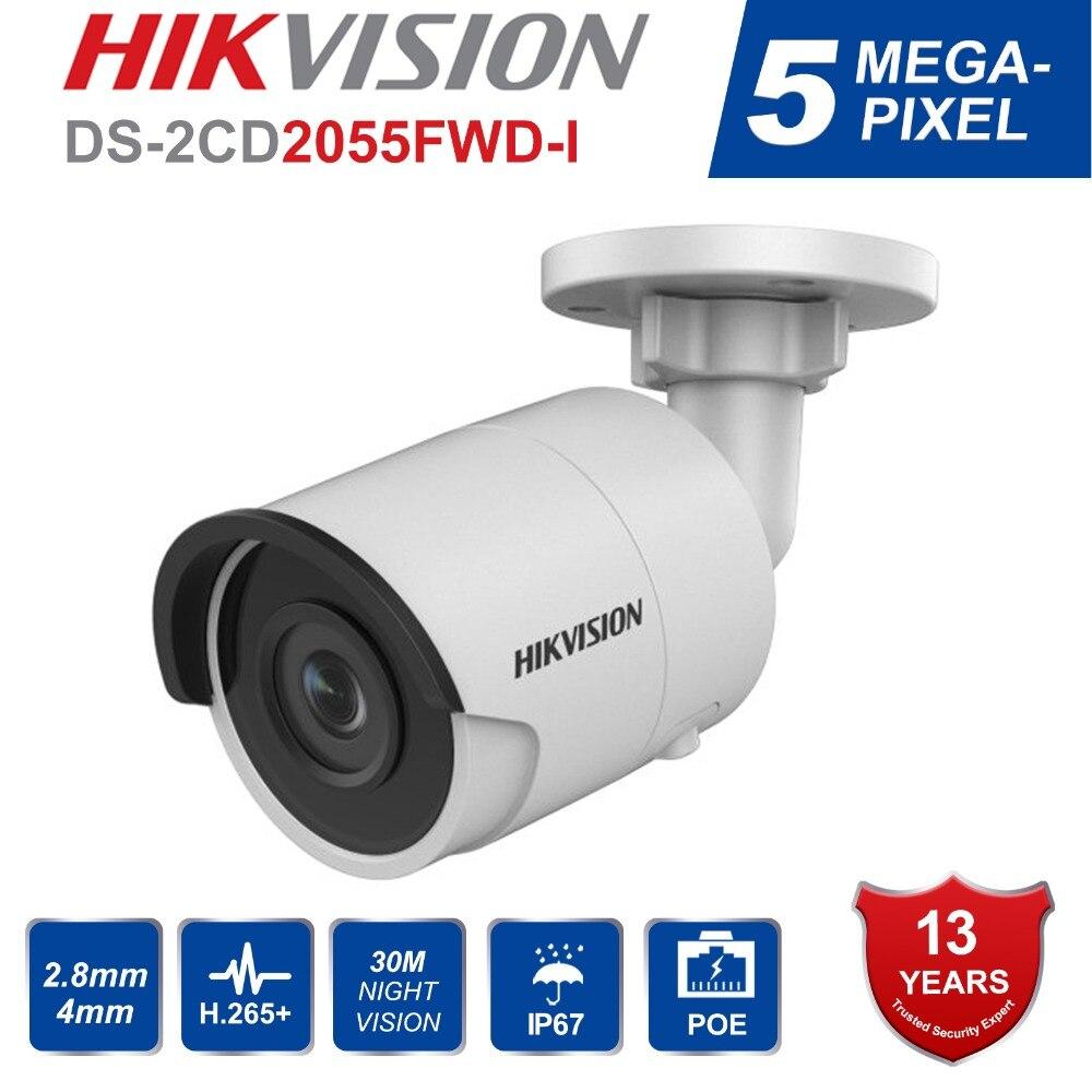 Hikvision EasyIP3.0 Sécurité IP Caméra H.265 DS-2CD2055FWD-I 5MP Mini Bullet Réseau IP Caméra avec Nuit Version IP67 & Slot