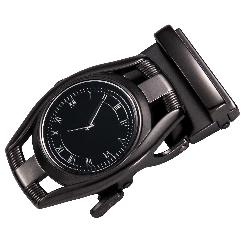 AK-2104 New Fashion Clock Watch Designer Automatic Belt Buckles For Men Metal Cowboy  Belt Buckles Without Belt 3.5cm Width