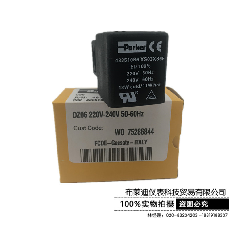 Original Parker Solenoid Valve Coil 483510S6 XS03XS6F 220V-240V 50 / 60Hz цена и фото