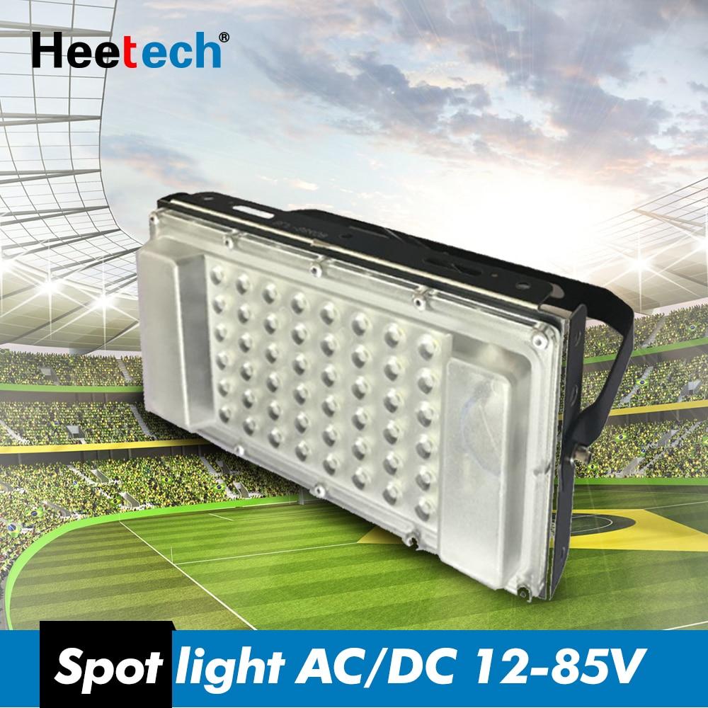 LED FloodLight 12 Volt Waterproof IP65 50w AC/DC12-85V Ultrathin LED Spotlight Refletor Outdoor Garden Street Floodlight