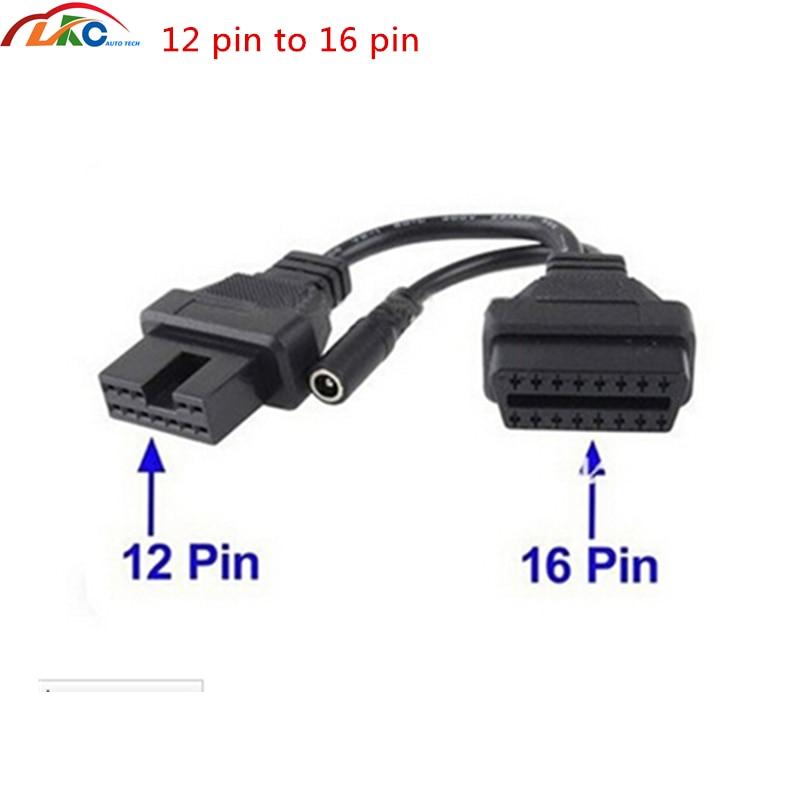 12 PIN bis 16 PIN OBD2 OBDII Adapter Diagnosestecker für MITSUBISHI