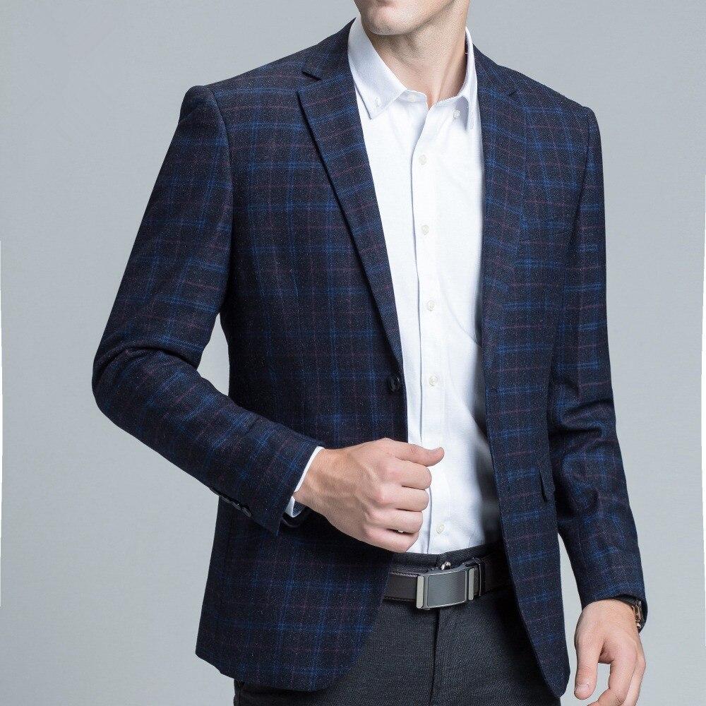 2019 nouveau élégant Blazer imprimé rayure veste affaires Smart jolie pochette manteau Slim Fit mariage costume robe hommes diplômé Blazer