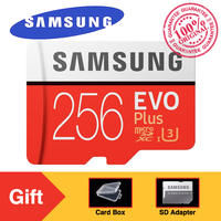 Original SAMSUNG Micro SD Memory Card EVO Plus 256GB 95MB S Class10 U3 UHS I TF