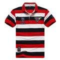 XXL-8XL Plus Tamaño Ropa de la Marca de Rayas Camisa de Polo Hombres de la Aptitud del Algodón Clásico de la Marca de Polo de Los Hombres (XXL XXXL 4XL 5XL 6XL 7XL 8XL)