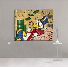 Scrooge Cash By Alec Monopoly Wall Art Canvas Painting Posters Prints Modern Pictures For Living Room Home Decor