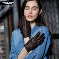 Fioretto 2016 Fall Winter New Arrival Sheepskin Leather Women Gloves with Striped Rivet Fashion Punk Gloves for Ladies Girls