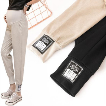 Spring and summer thin maternity casual stomach lift pants loose nine pants breathable wild fashion pants for pregnant women цена 2017