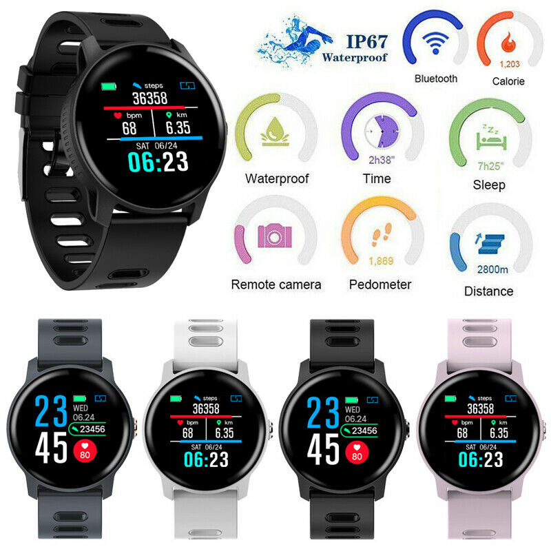 Men Smart Watch <font><b>S08</b></font> Fitness Tracker Heart Rate Monitor Pedometer Waterproof Women <font><b>Smartwatch</b></font> For Android iOS Phone image
