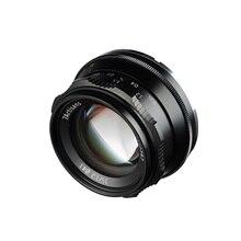 цена на 7artisans 35mm F1.2 Manual Fixed Tourism Portrait Street Shooting Camera Lens For Sony E Mount Canon EOS-M Mount Fuji FX Mount