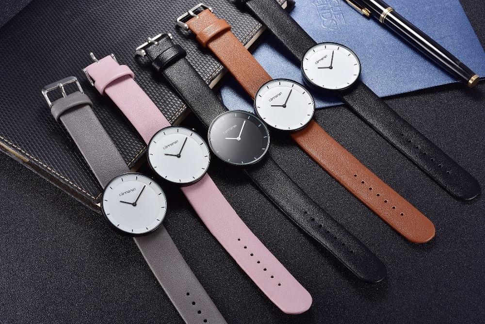 купить Hot Sale Ladies Fashion Casual Leather Strap Watch Simple Style Classic Elegant Analog Quartz Business Wristwatch по цене 2945.34 рублей