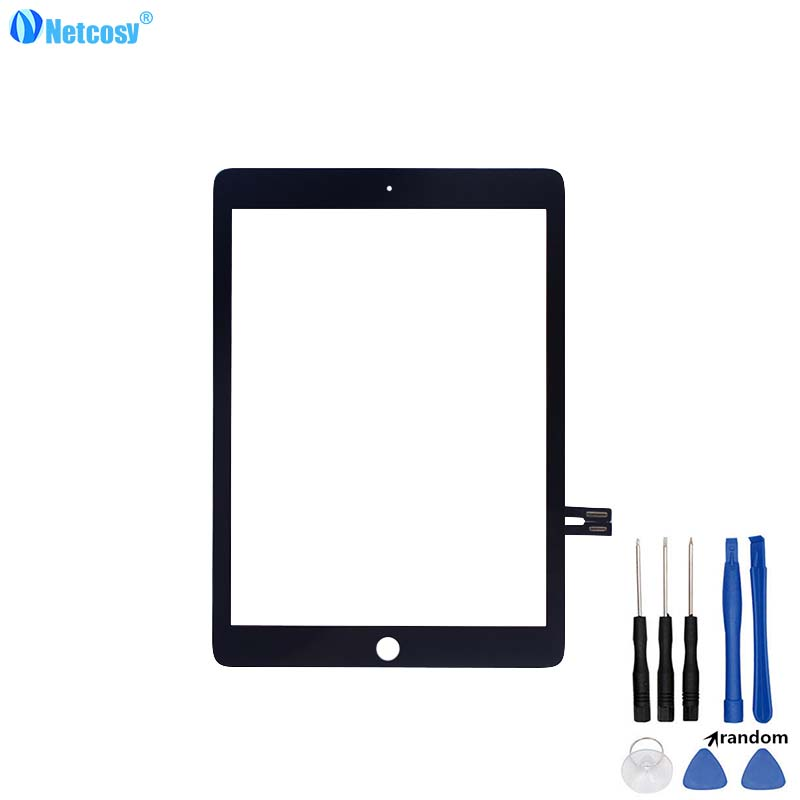 Netcosy For ipad 6 A1893 Tablet Touch panel For ipad Air 2 A1893 2018 Version Touch screen digitizer without home button & Tools netcosy black white touchscreen for ipad 2 touch glass screen digitizer home button assembly for ipad 2 touch panel