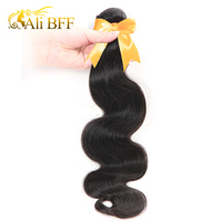 ALI BFF Hair Malaysian Body Wave Hair Bundles 100% Remy Hair Weave Bundles Hair Extensions Natural Black Can Mix Any Length