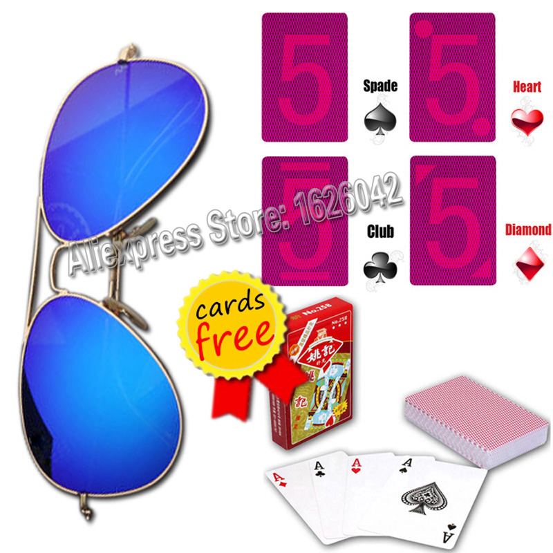 Lunettes magiques XF001 Cartes de Jeu Invisible Lunettes Magie Tricher Cartes Perspective Poker Cartes Anti Poker Triche