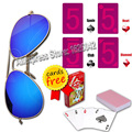 Magic XF001 Invisilbe ink Glasses With Invisible Playing Cards Perspective Glasses Anti Poker Cheat Color Filter