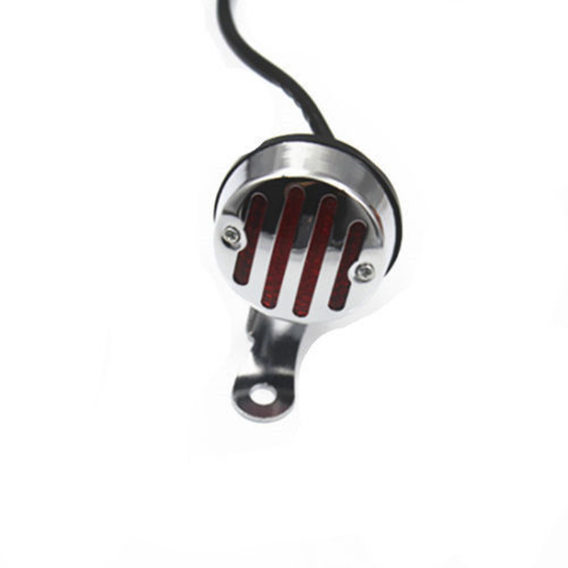 12V Grill LED Rear Tail Brake Stop Light Lamp Motorcycle Cafe Racer Cruiser Bobber Chopper Touring Scooter Offroad Atv|  - title=
