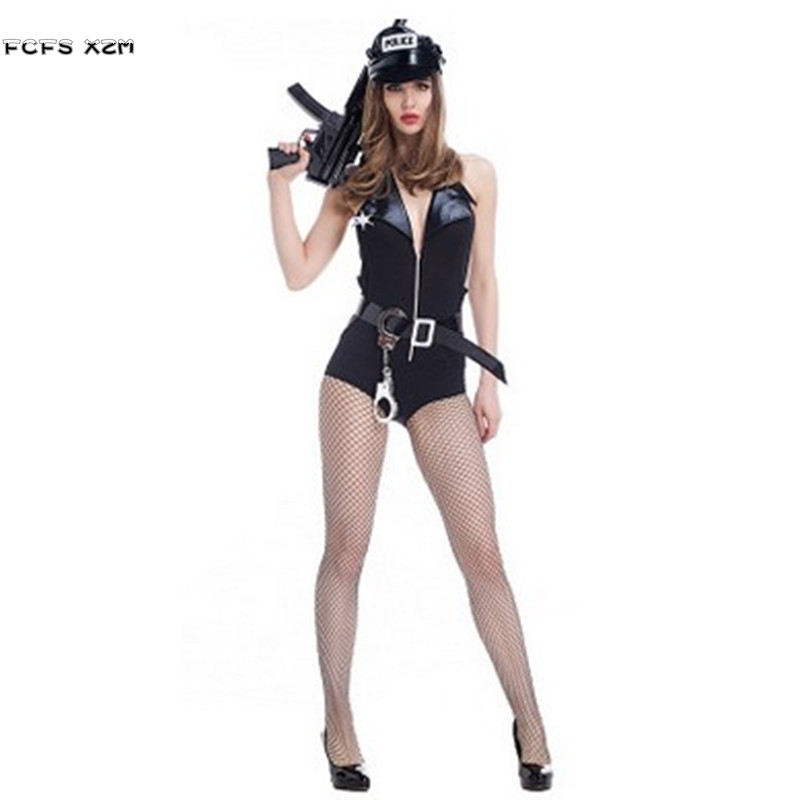 Sexy Policewoman Cosplays Halloween Costumes Female -7828