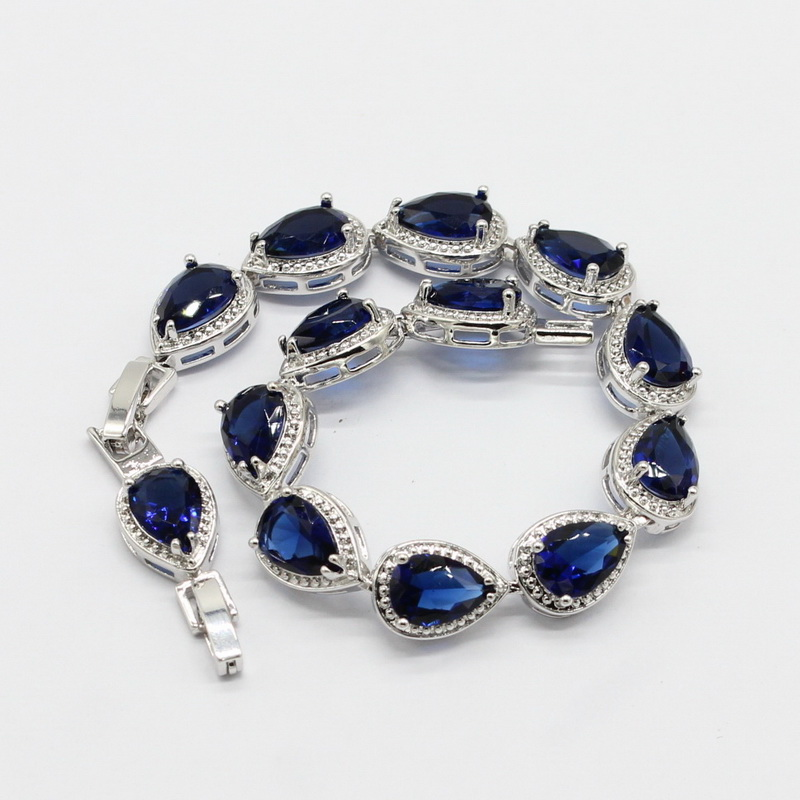 925 Conjuntos de joyas de color plateado para mujeres Gota de agua - Bisutería - foto 6