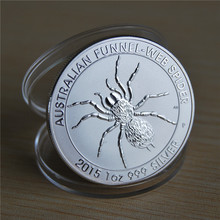 2015 Australia Spider coin Perth Mint Australian Funnel Web 1oz Silver Coin, High quality copy Plated Coins 5pcs