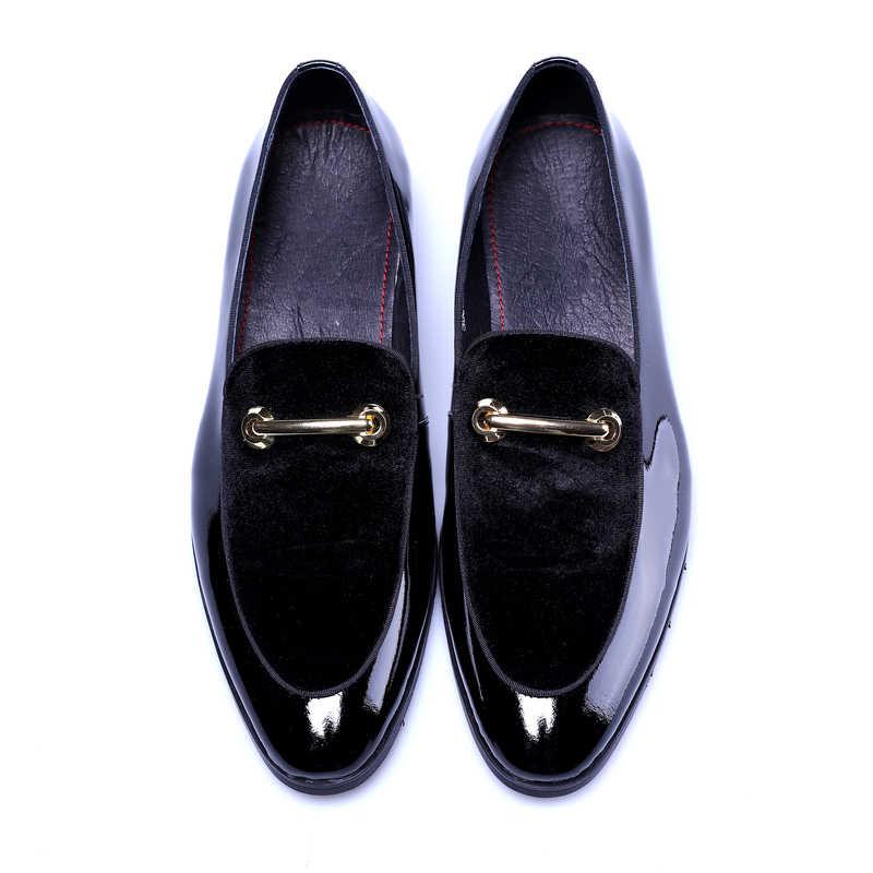 Новинка; Мужские модельные туфли; Роскошные модные свадебные туфли для жениха из лакированной кожи; роскошные мужские туфли-оксфорды в итальянском стиле; большие размеры; H293