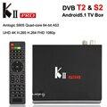 KII PRO Amlogic S905 Quad-core Android 5.1 TV BOX 2GB 16GB 4K DVB-T2 DVB-S2 Smart TV Box 2.4G/5.0G Dual WiFi BT4.0 Set Top Box