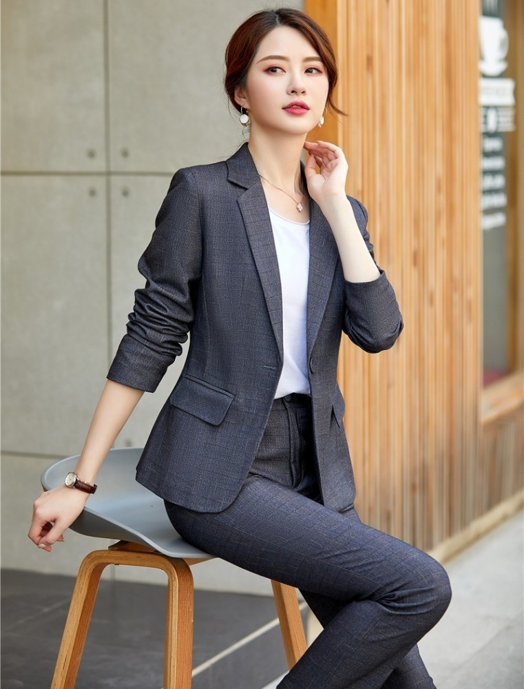 High Quality Fabric 2019 Autumn Winter Women Business Suits With Pants And Tops OL Styles Ladies Office Work Wear Blazers Set