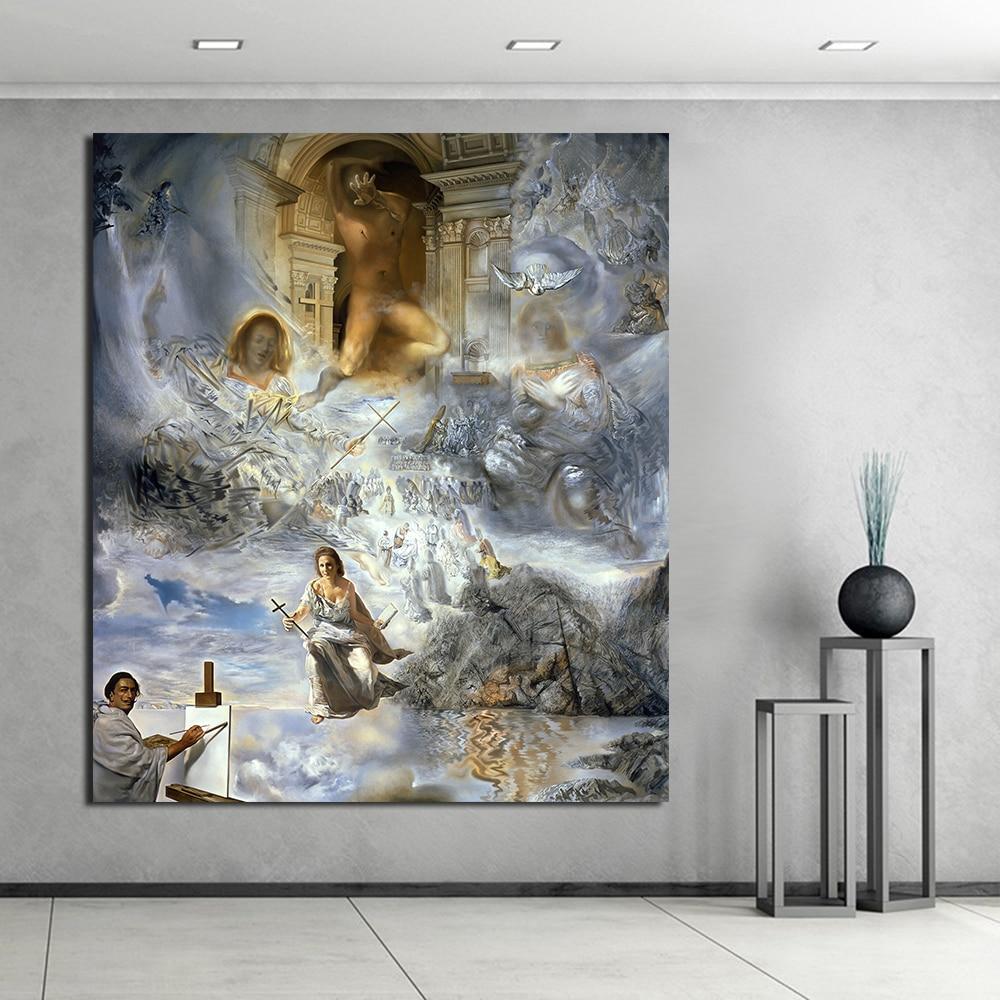 JQHYART Salvador Dali Abstrakte Figur Wandbilder Für Wohnzimmer ...