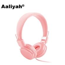 [Aaliyah] Новое поступление 3.5mm мультфильм наушники Розовый гарнитуры DJ наушники для девушки дети с микрофоном