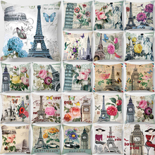 Unicorn  cartoon art vintage style butterfly clock Pillow case square fashionable iron towel pillow cover size 45*45cm