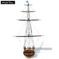 Деревянный корабль комплекты моделей поезд хобби модель сборка обучающая игрушка Diy Модель дерево лодки 3d лазерный масштаб 1/75 USS