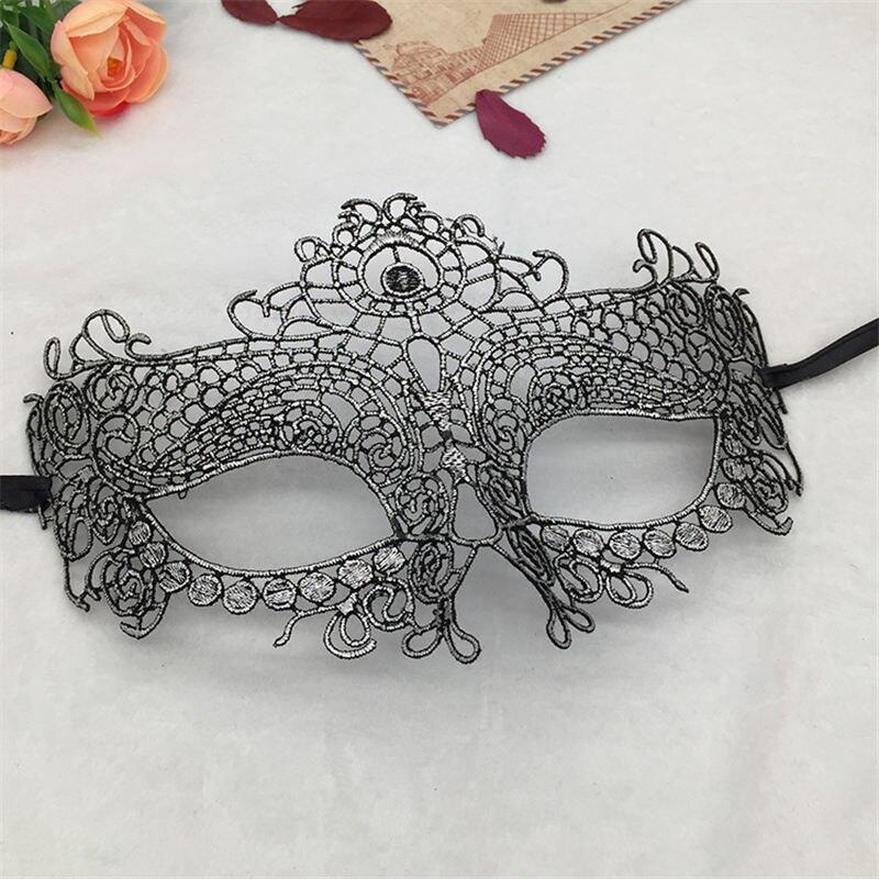 Серебряная горячая штамповка Дамская Сексуальная Маскарадная маска из кружева для карнавала, Хэллоуина, выпускного вечера, Вечерние Маски, маска для глаз#35 - Цвет: PM008TS