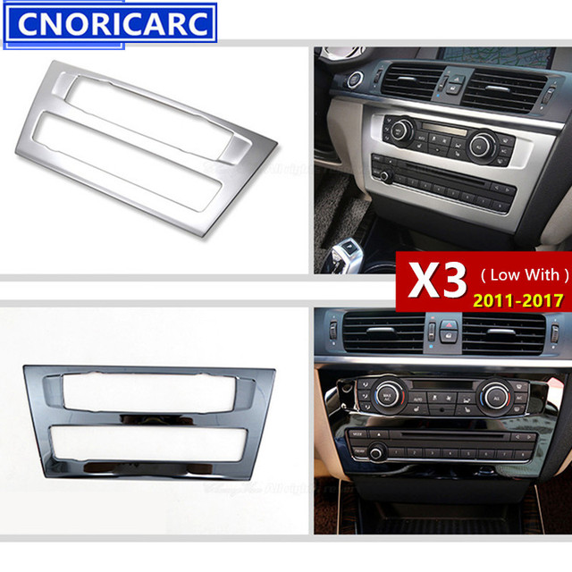 acb41ee860e3 CNORICARC Stainless Steel Middle Console CD Panel Decorative Cover Trim  Sequin For BMW X3 F25 Car
