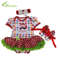Baby Girls Christmas Costumes Romper Dress + Headband + Shoes Clothing Sets New Year Party Clothes Bebe Princess Free Drop Ship