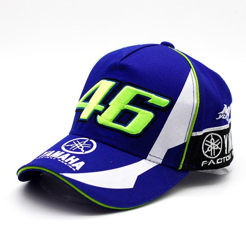 Prix pour 2017 Nouveau Design F1 Racing YMH Chapeau Moto Racing Cap MOTO GP VR 46 Cap Rossi Broderie 100% Coton Camionneur Casquette de baseball chapeau