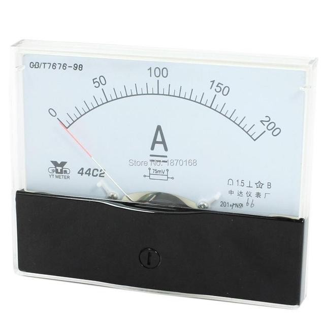 44C2 DC 1A 2A 3A 5A 10A 15A 20A 30A 50A 75A 100A 150A 200A 300A 500A1K Аналоговая Панель Ампер Измеритель тока Амперметр