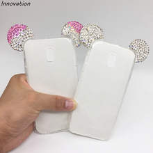 Innovation 3D Minnie Mickey Mouse Ears Case For Samsung Galaxy S8 Plus S7 Edge J3 J5 J7 2017 J5 Prime Glitter Silicone TPU Cover
