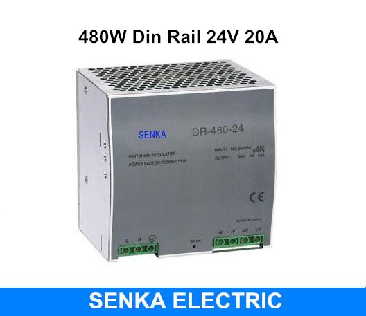480W 24V 20A switching power supply din rail switching power supply smps MDR-480-24