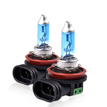 2Pcs H11 100W Super White Halogen Bulb 100W/55W Fog Light High Power Car Headlights Lamp Source Parking Auto 6000K 12V