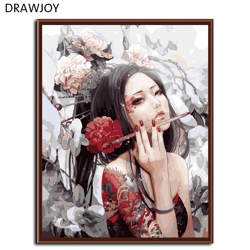 Frameless Foto DIY Pittura By Numbers Mancante Home Decor Per Soggiorno Dipinta A Mano su Tela di Canapa G269 40*50 cm