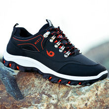Fashion Outdoor Non Slip Men Shoes Casual Light  Breathable Men's Sneakers Lace-Up Yellow Black Moccasin Men Soft Climbing Shoes