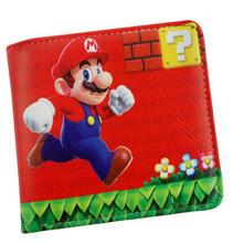 Super Mario Bag Wallet Purse Bros PU Leather Short Wallet Purse Bag Messenger Game Cosplay Girl Women Gift