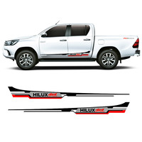 free shipping 2 side door cool three colors 4x4 vinyl graphics strickers kit for for TOYOTA HILUX revo 2015 accessories decals