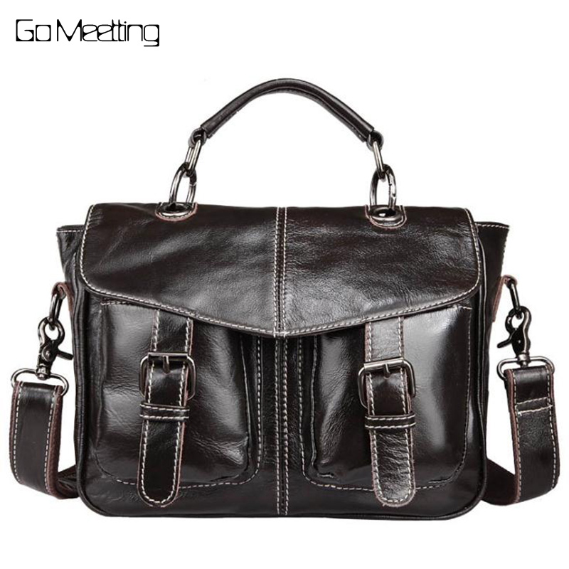 Vintage Design Genuine Leather Women Handbags Oil Wax Cowhide High Quality Satchels Women Shoulder Bag Messenger Bags 2017 autumn and winter new women genuine leather handbags female bags oil wax cowhide handbags fashion shoulder messenger bags
