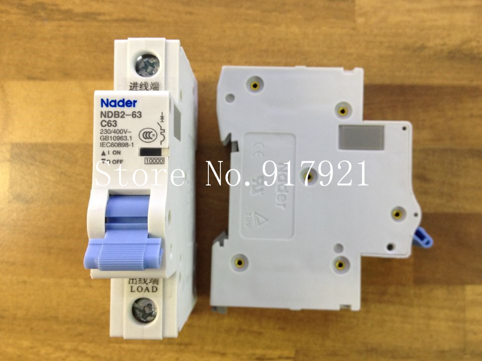 [ZOB] Nader letter NDB2-63 C63 miniature circuit breaker 1P63A unipolar air switch to ensure genuine --12pcs/lot