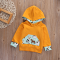 Newborn Baby Boys Girls Clothing Long sleeve Puppy Dog pattern Hoodies Sweatshirt Warm Fleeve Hooded Tops Clothes 0-24M